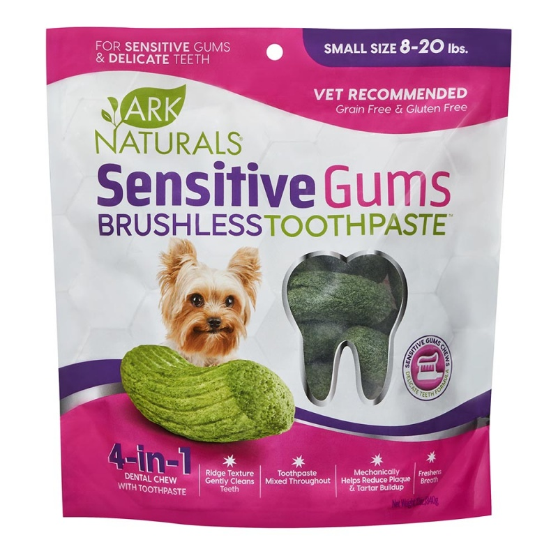 Ark Naturals Sensitive Chewable Brushless Toothpaste For Small Dogs (8-20 Lbs.) 4.1 Oz