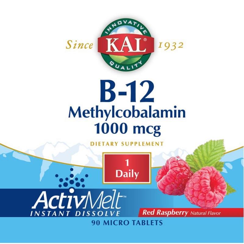 Kal B-12 Methylcobalamin Activ Melt 90 Count