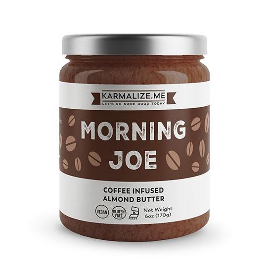 Karmalize. Me Morning Joe Coffee Infused Almond Butter 6 Oz