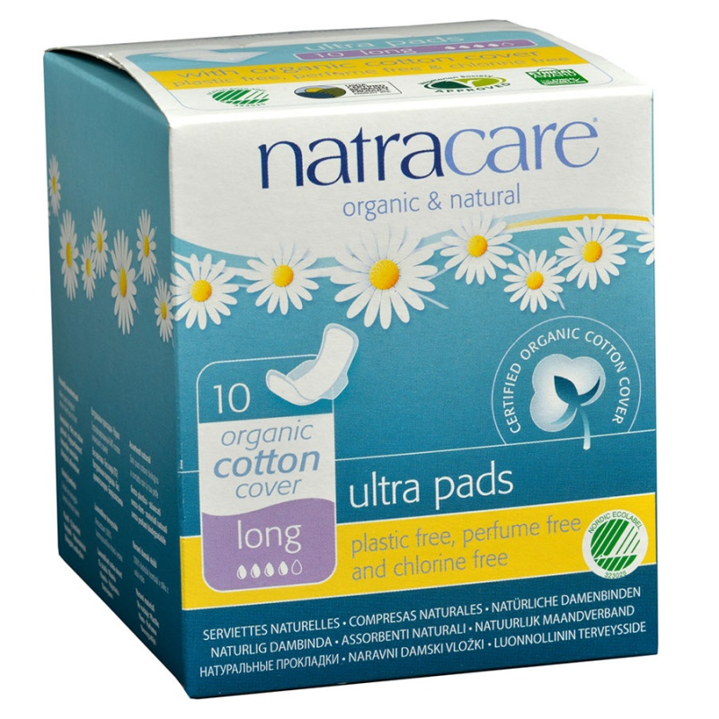 Natracare Natural Ultra Long Pads With Wings 10 Count