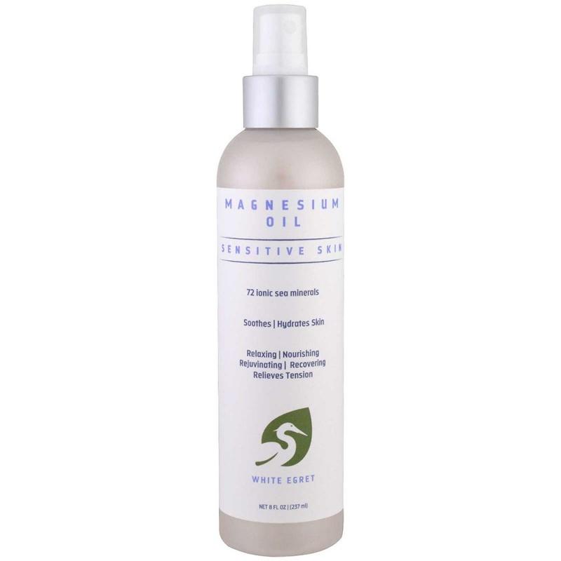 White Egret Sensitive Magnesium Oil Spray 8 Oz