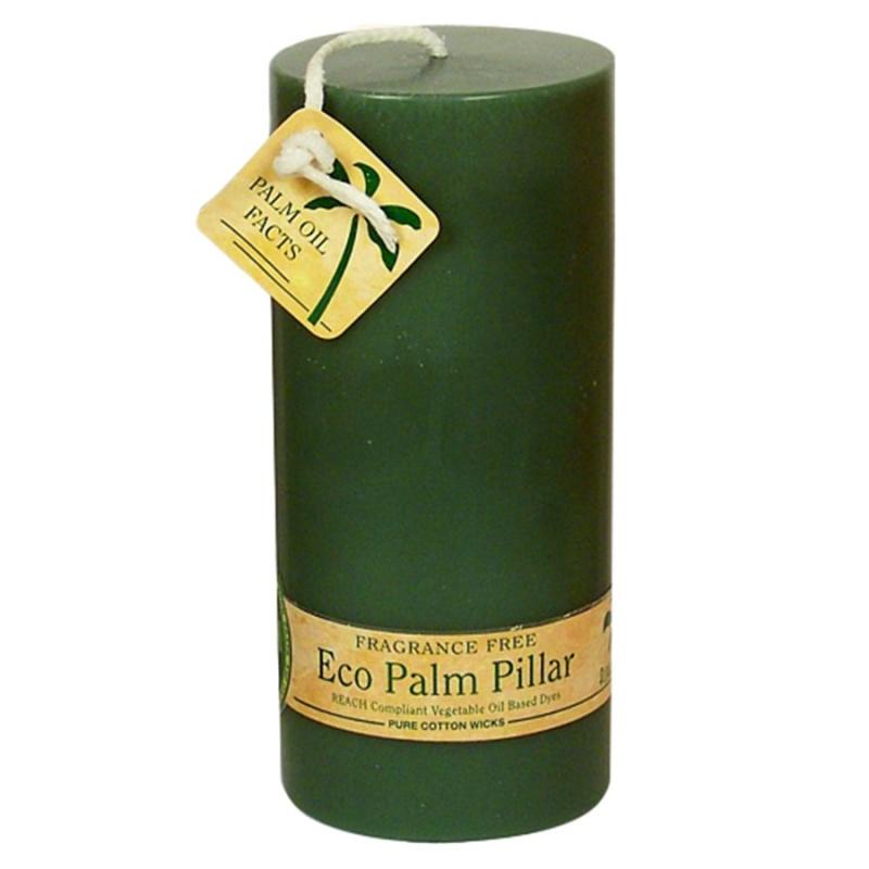 Aloha Bay Unscented Green Pillar Candle 2 1/4 X 5