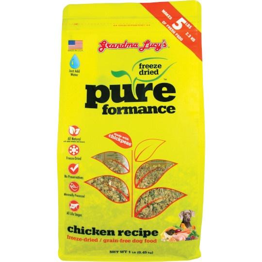 Grandma Lucy's Freeze- Dried Chicken Pureformance Dog Food 1 Lb