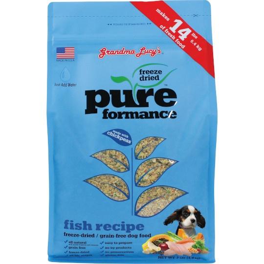 Grandma Lucy's Freeze- Dried Salmon Pureformance Dog Food 3 Lb