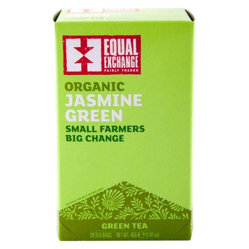 Equal Exchange Organic Jasmine Green Tea 20 Tea Bags