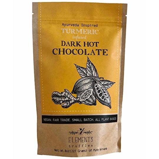 Elements Truffles Turmeric Infused Dark Chocolate Hot Chocolate
