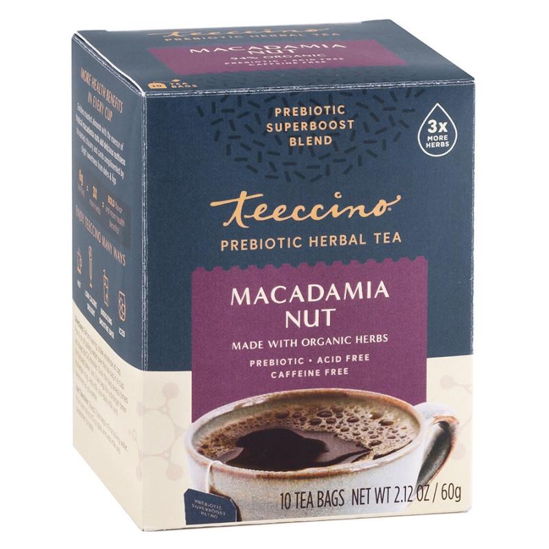 Teeccino Macadamia Nut Prebiotic Tea 10 Bags