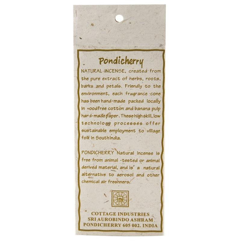 Pondicherry Natural Sandalwood Incense Cones 20 Count