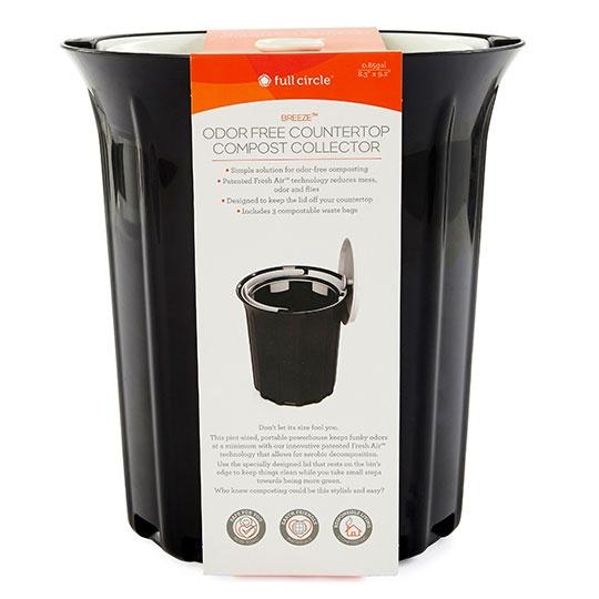 Full Circle Breeze Odor-free Countertop Compost Collector 0.85 Gallon
