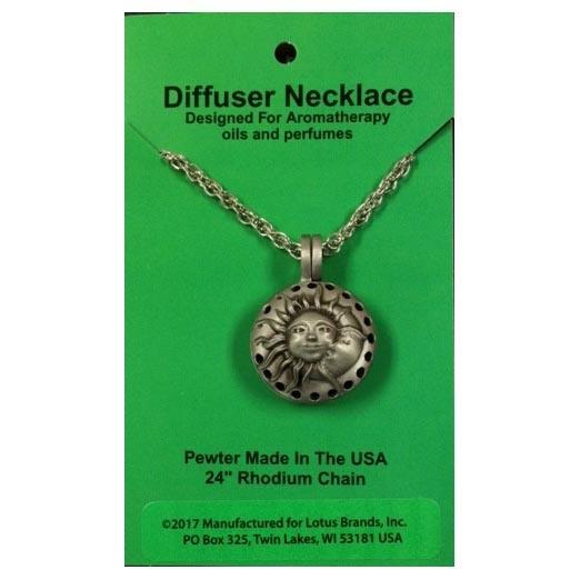 Sun & Moon Diffuser Necklace 24 Chain