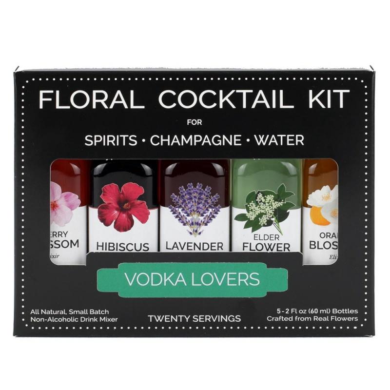 Floral Elixir Co. Vodka Lovers Cocktail Kit (5) 2 Fl. Oz. Bottles