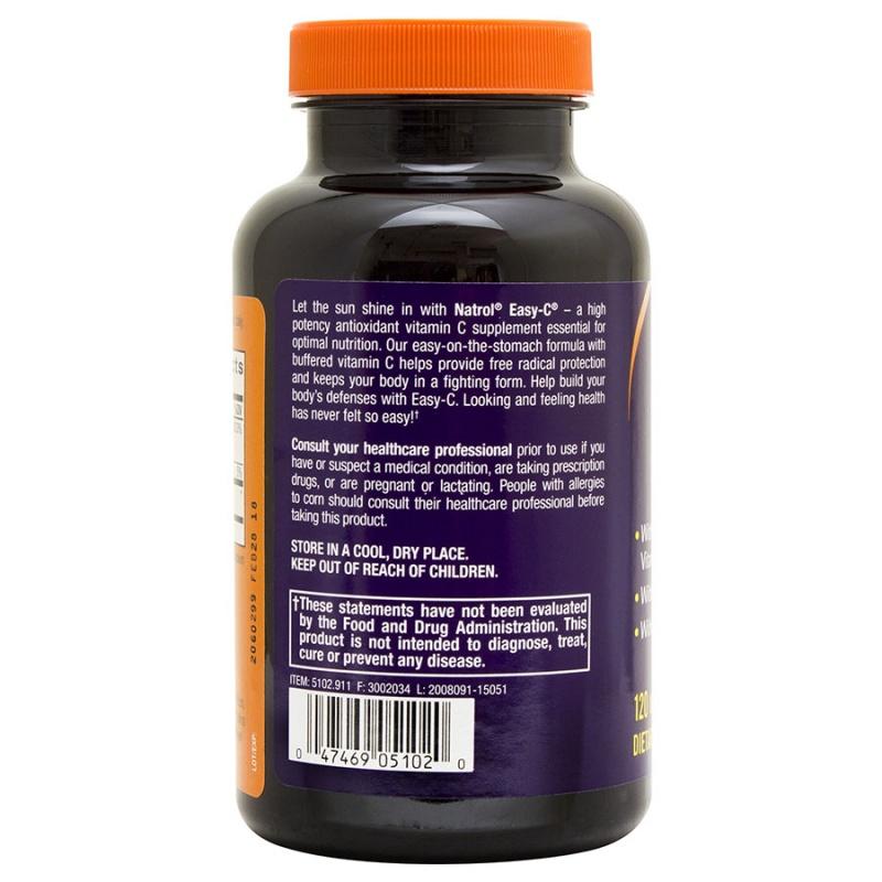 Natrol Easy-c With Bioflavonoids 120 Vegetarian Capsules