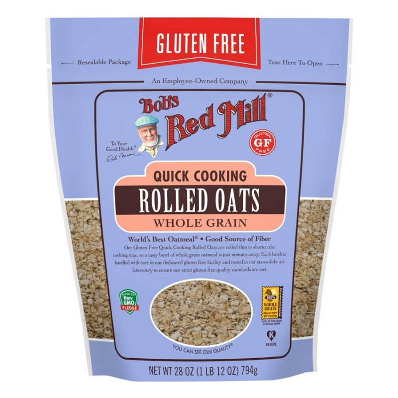 Bob's Red Mill Quick Rolled Oats 28 Oz. Resealable Bag