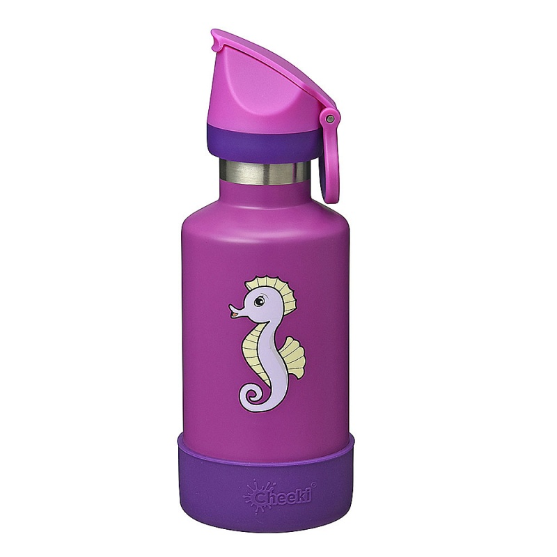Cheek Seahorse Insulated Stainless Steel Kids Bottle 13 Oz