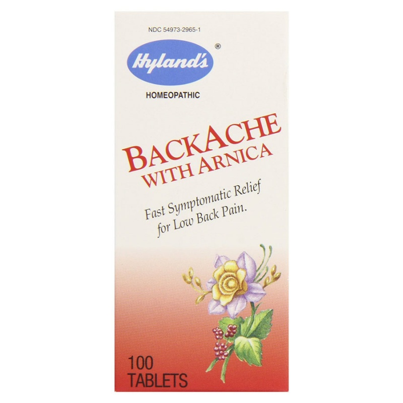 Hyland's Backache With Arnica Tablets 100 Tablets