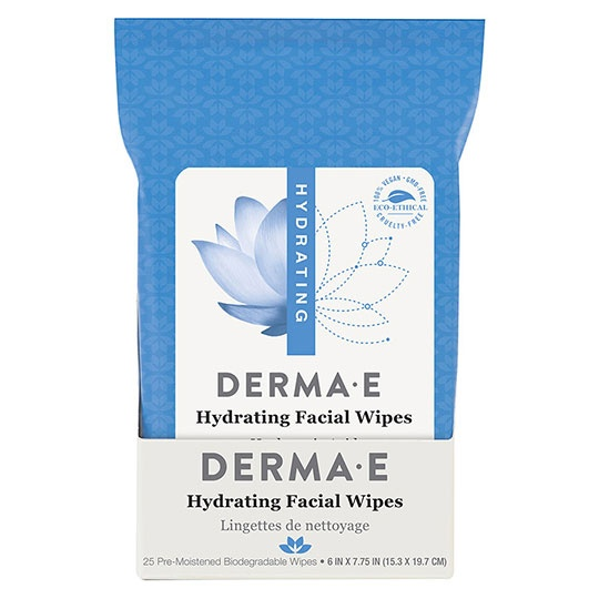 Derma E Hydrating Facial Wipes 25 Count
