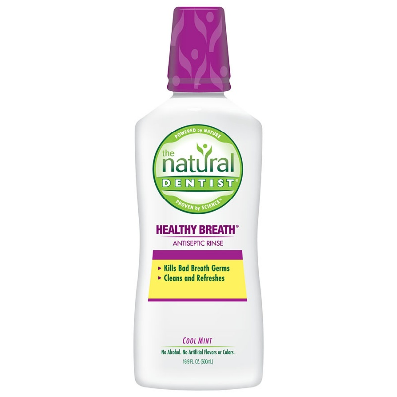 The Natural Dentist Cool Mint Natural Antiseptic Mouth Rinse 16.9 Fl. Oz.