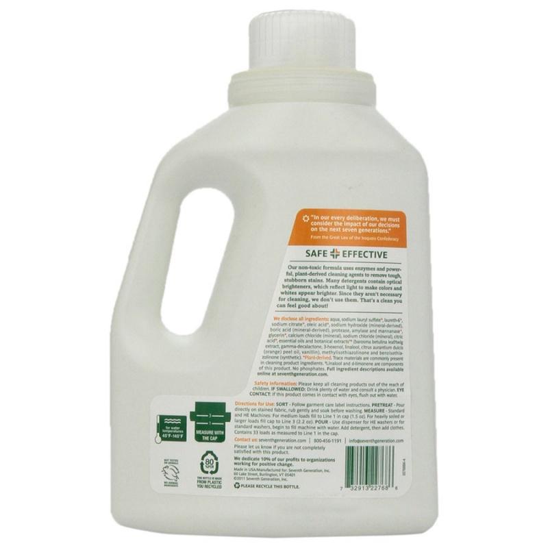 Seventh Generation Fresh Citrus Laundry Detergent 50 Fl. Oz.