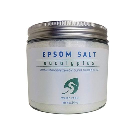 White Egret Eucalyptus Pharmaceutical Epsom Salts 16 Oz.