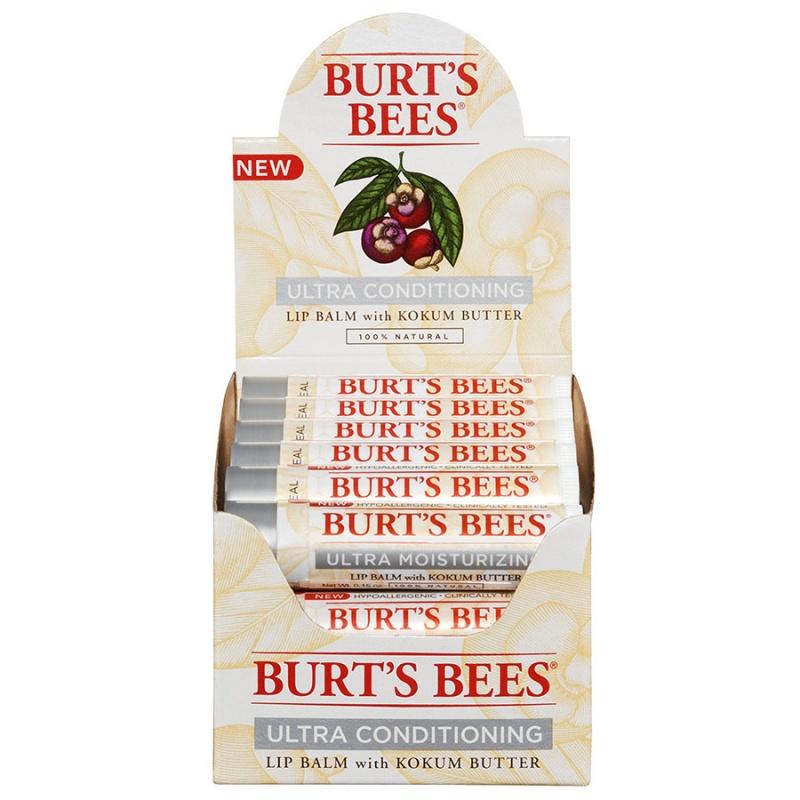 Burt's Bees Ultra Conditioning Lip Balm Tube Refill Pack 12 (0.15 Oz.) Tubes