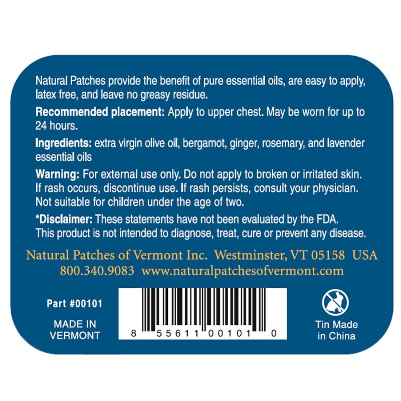 Naturopatch Bergamot Calming Stress Relief Formula
