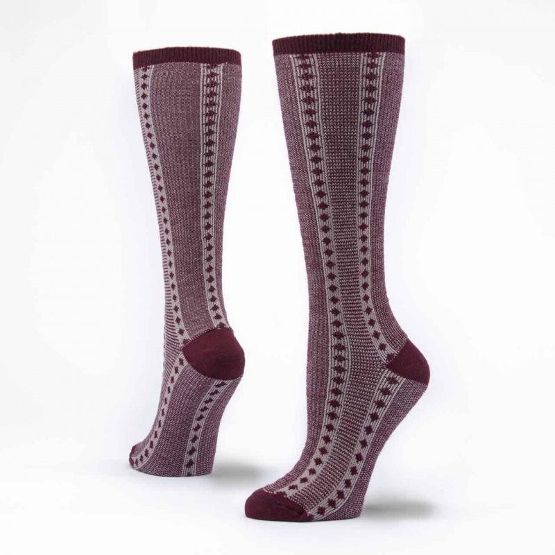 Maggie's Functional Organics 10-13 Wine Knee High Socks