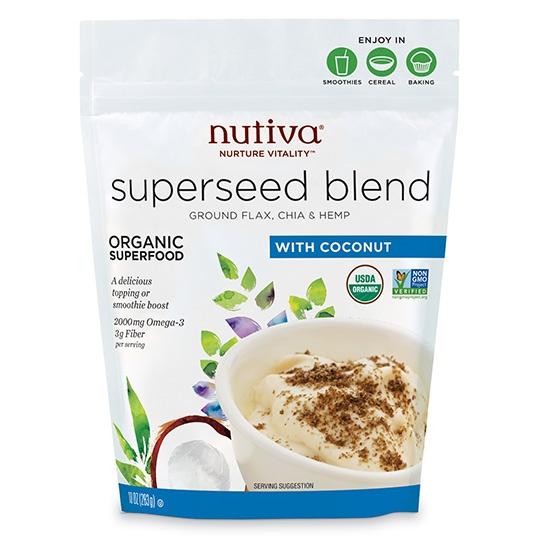 Nutiva Organic Superseed Blend With Coconut 10 Oz.