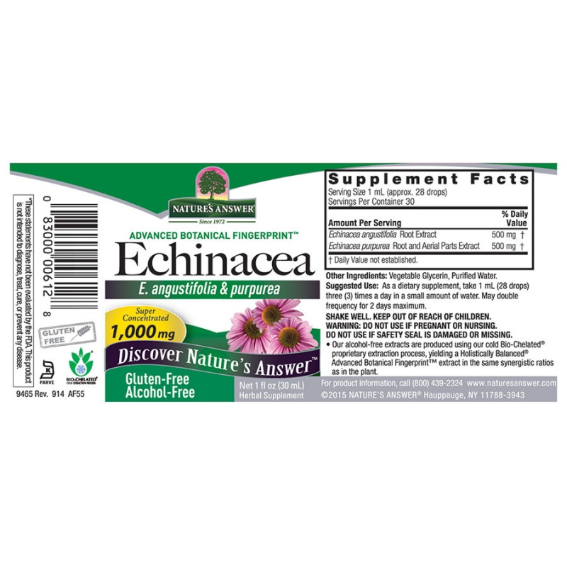 Nature's Answer Echinacea Extract 1 Fl. Oz.