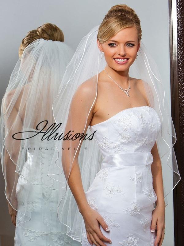 Illusions Bridal Rattail Edge Veil S1-362-RT