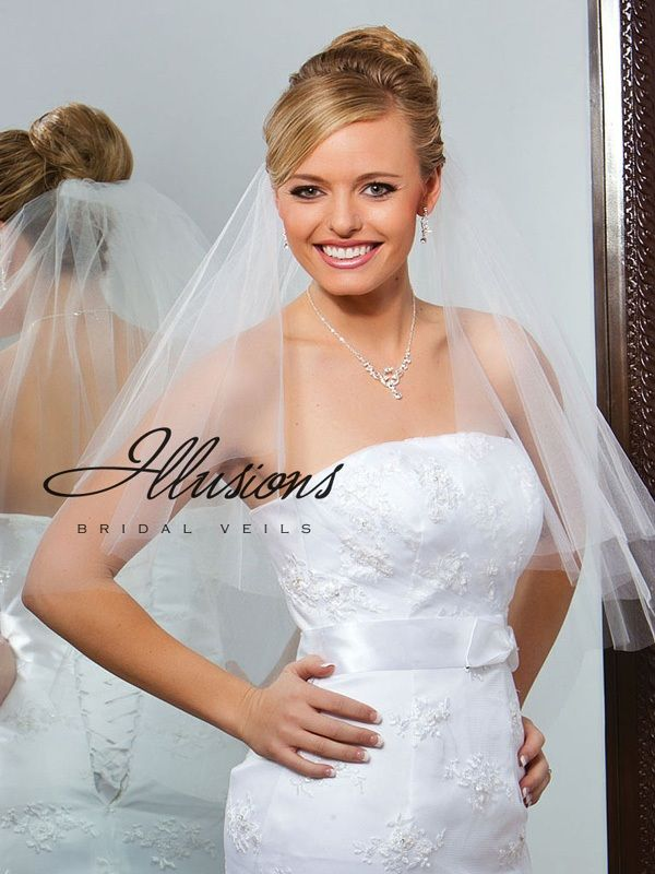 Illusions Bridal Cut Edge Veil C7-302-CT