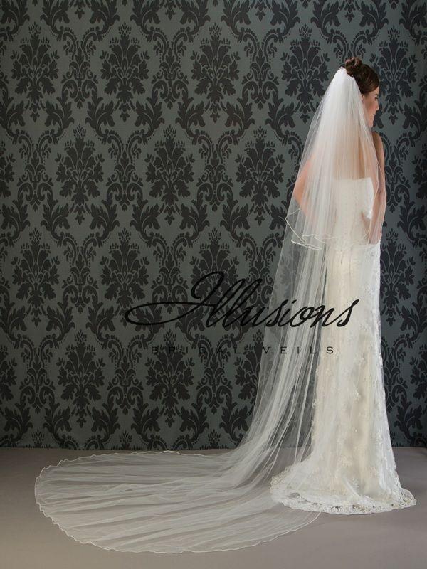 Illusions Bridal Soutache Edge Veil S1-1202-ST