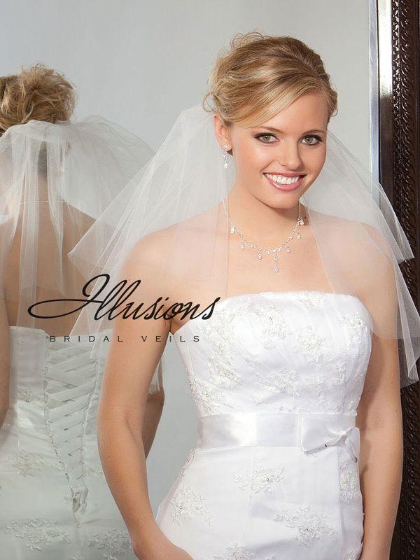 Illusions Bridal Cut Edge Veil C7-202-CT: Pearl Accent