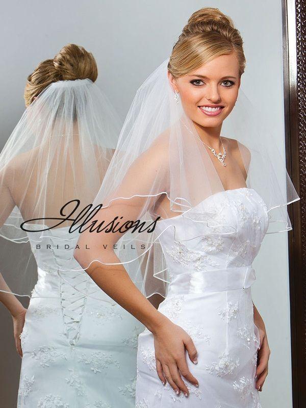 Illusions Bridal Soutache Edge Veil C7-252-ST