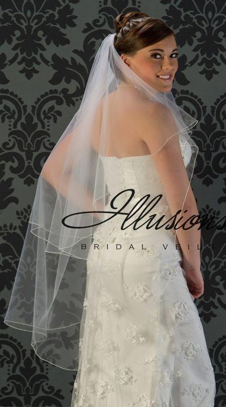 Illusions Bridal Corded Edge Veil C5-452-C