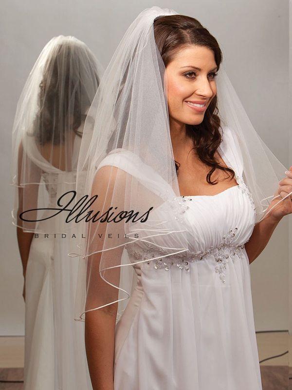 Illusions Bridal Rattail Edge Veil C7-302-RT
