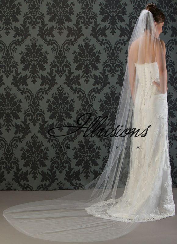 Illusions Bridal Cut Edge Veil 7-1081-CT