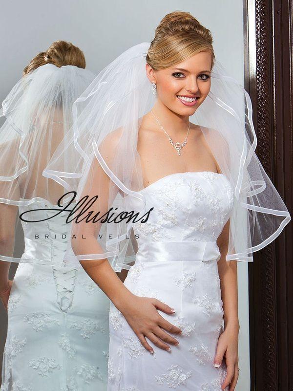 Illusions Bridal Ribbon Edge Veil S1-252-1SR