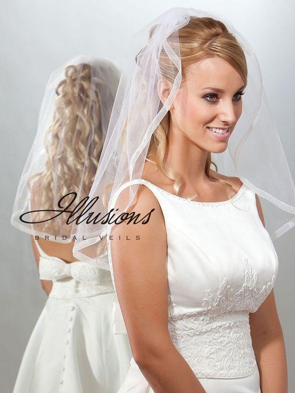 Illusions Bridal Ribbon Edge Veil 7-251-SR