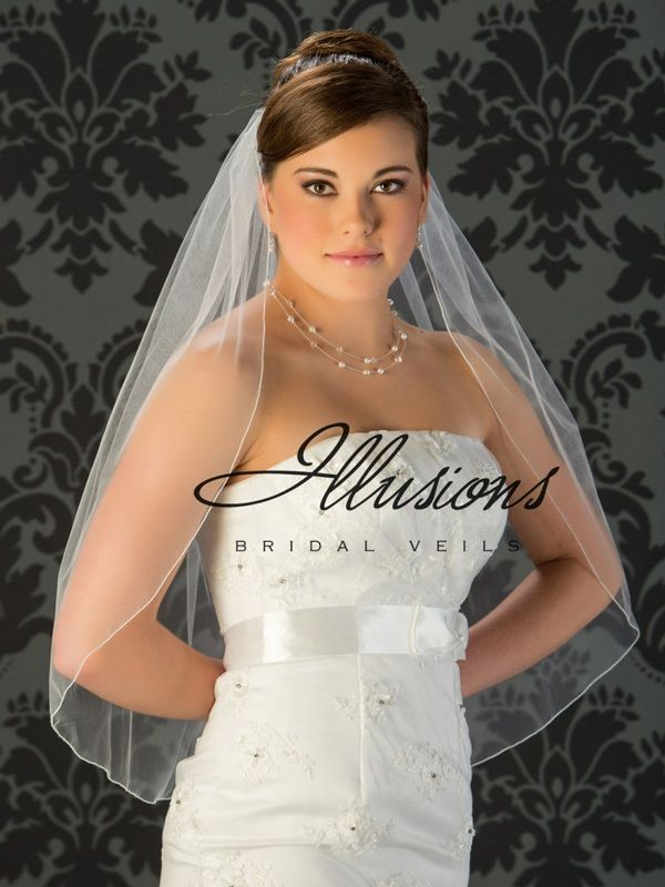 Illusions Bridal Corded Edge Veil 5-301-C: Cheap, Pearl Accent