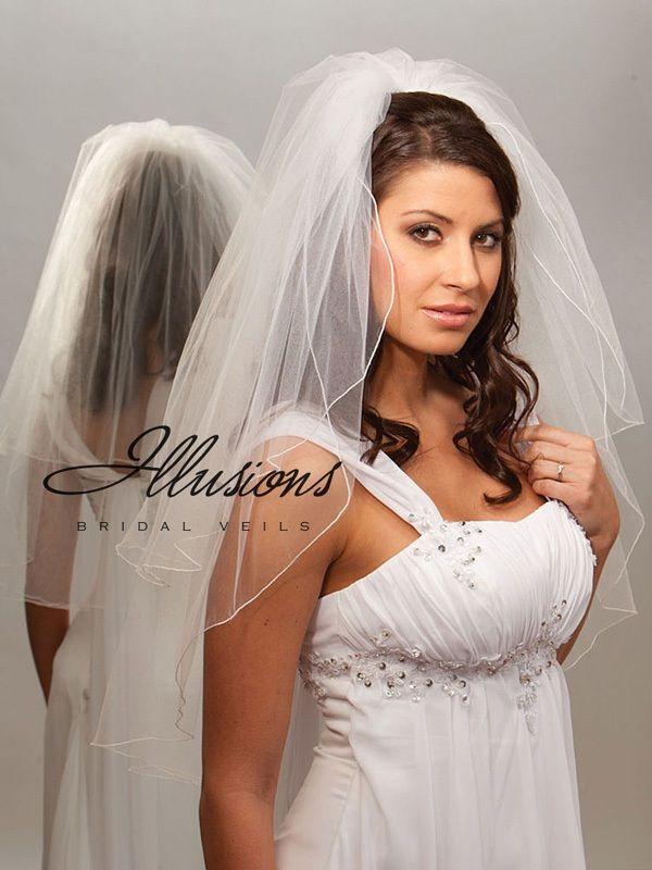 Illusions Bridal Corded Edge Veil S7-302-C