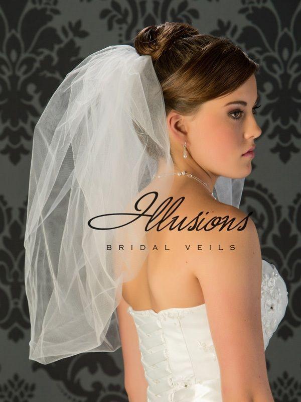 Illusions Bridal Bubble Cut Veil B7-25