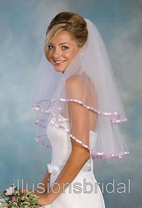 Illusions Bridal Colored Veils and Edges C1-252-3R-LV