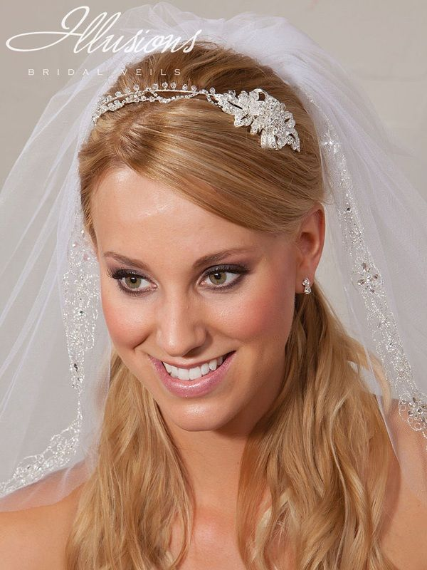 Illusions Bridal Headband 2861: Rhinestone