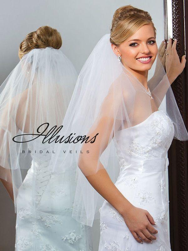 Illusions Bridal Cut Edge Veil C1-302-CT