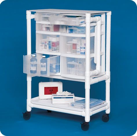 Lockable Nursing Supply Cart