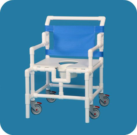 Shower Chair Commode W/flat Seat 550# Capacity