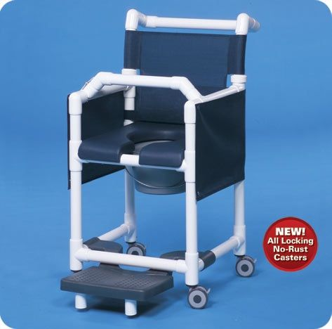 Dlx Shower Chair Commode W/options