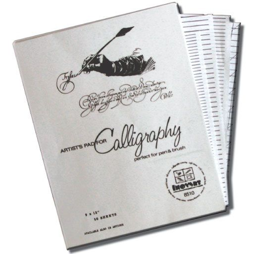 Inovart Calligraphy Paper And Lettering Guide