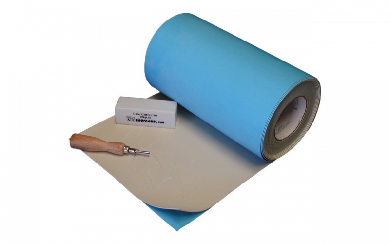 """Inovart Impress Synthetic Linoleum 1/8"""" Thick With A Repositionable Adhesive Backing - Roll 12"""" X 30' - 2 Per Pack"""