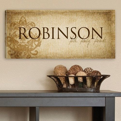 Personalized Faith & Family Canvas Sign